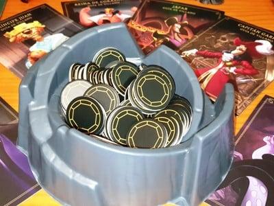 Juego de mesa Villainous monedas del poder