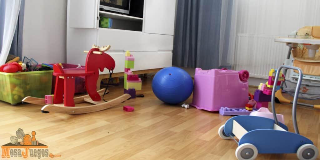 Ideas para guardar juguetes con poco sitio